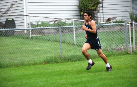 Danny Moya runs for the BG cross country team.
