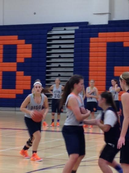 Senior Madeline Callahan plays in a scrimmage at practice.