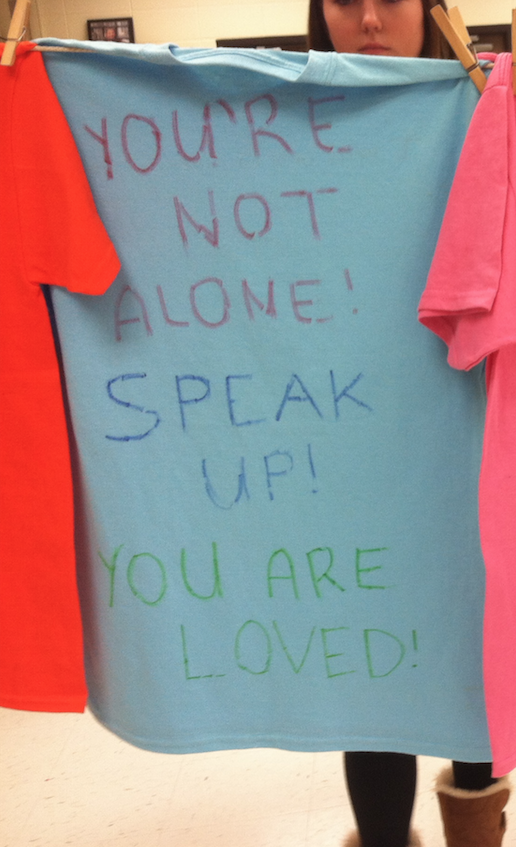 T%E2%80%93shirts+displayed+with+the+stories+of+survivors+who+went+through+sexual+assault.