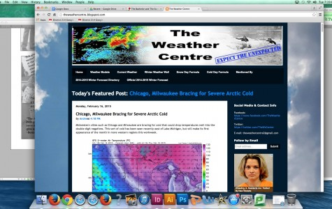 "Rain or shine, Andrew Racki predicts forecasts on popular blog ""The Weather Centre"""