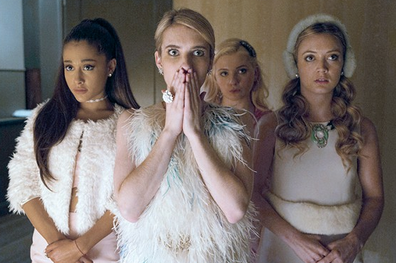 A shot from an episode of Scream Queens.