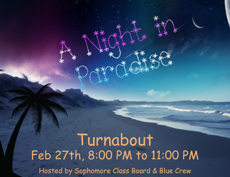 The flyer for the turnabout dance.