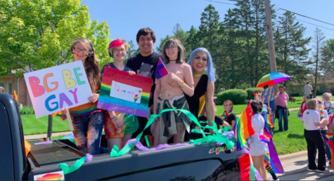 Students attend first-ever Buffalo Grove pride parade in June of 2019.