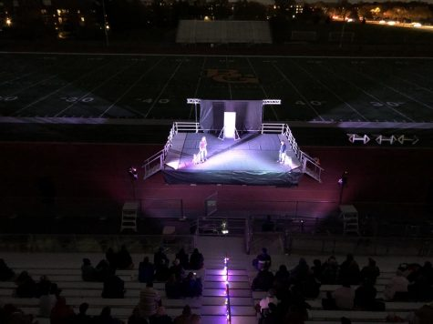 The BG theater program is no stranger to unique circumstances. The recent fall play took place outdoors on the football field.