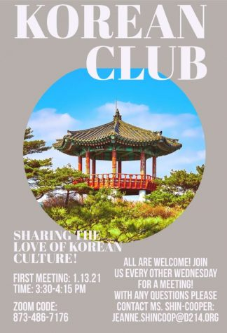 Flyer advertising the new Korean club.