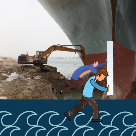 BG students get unique service opportunity helping the Suez Canal boat get unstuck